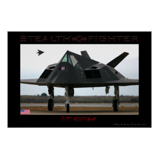 F-117 Stealth Fighter Poster