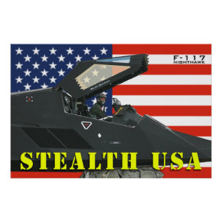 F-117 Stealth USA Poster