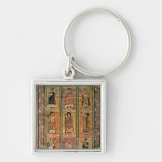 F.142 Saracens, from Abelda's Councilar Codex Silver-Colored Square Keychain