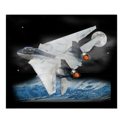 F-14 After burners Posters