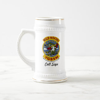 F-14 Custom Beer Stein w/call sign Coffee Mugs