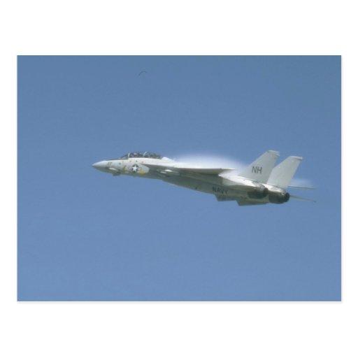 F-14 en vuelo tarjetas postales