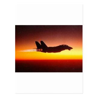 F-14 TOMCAT EN EL DISPOSITIVO DE POSCOMBUSTIÓN TARJETAS POSTALES