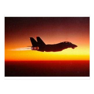 F-14 TOMCAT EN EL DISPOSITIVO DE POSCOMBUSTIÓN TARJETA POSTAL