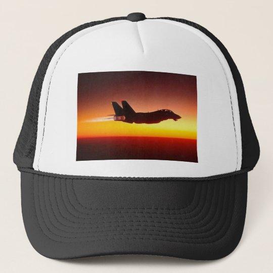 F-14 TOMCAT IN AFTERBURNER TRUCKER HAT