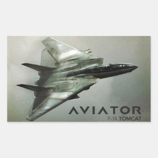F-14 Tomcat Jet Fighter Rectangular Sticker