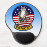 "F-14 Tomcat Mascot Gel Mouse Pad<br><div class=""desc"">Digital illustration inspired by an existing Tomcat patch.</div>"