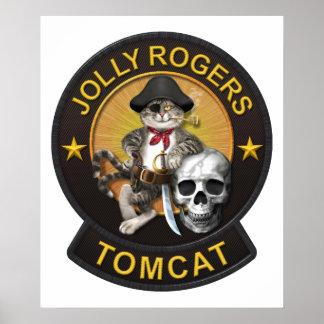 F-14 Tomcat Mascot Jolly Rogers 2 Poster