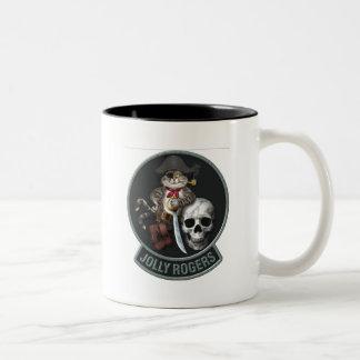 F-14 Tomcat Mascot Jolly Rogers Two-Tone Coffee Mug