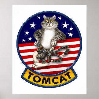 F-14 Tomcat Mascot Poster