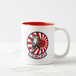 F-14 Tomcat Mascot Sundowners Two-Tone Coffee Mug
