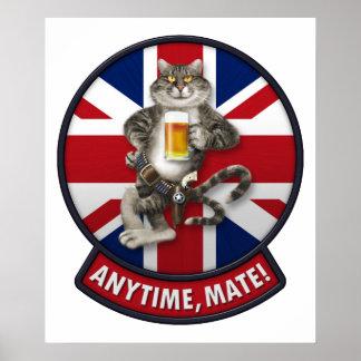F-14 Tomcat Mascot UK Poster
