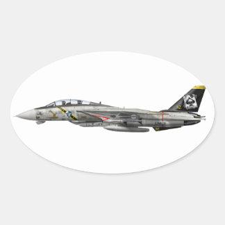 F-14 Tomcat Oval Sticker