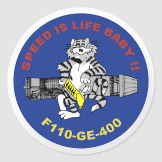 F-14 Tomcat Pegatina Redonda