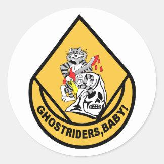 F-14 TOMCAT VF-142 Ghostriders Classic Round Sticker