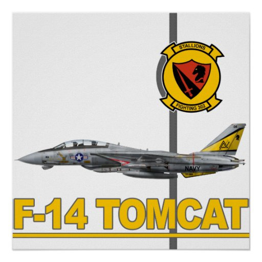 F-14 Tomcat VF-302 Stallions Print