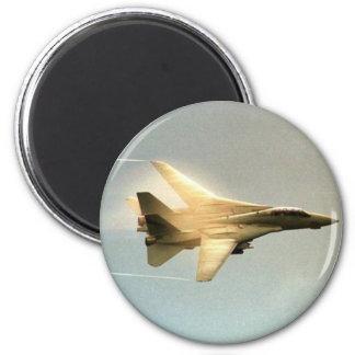 F-14 TOMCAT WITH VAPOR 2 INCH ROUND MAGNET