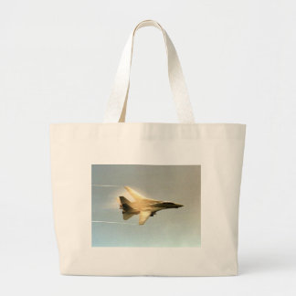 F-14 TOMCAT WITH VAPOR LARGE TOTE BAG