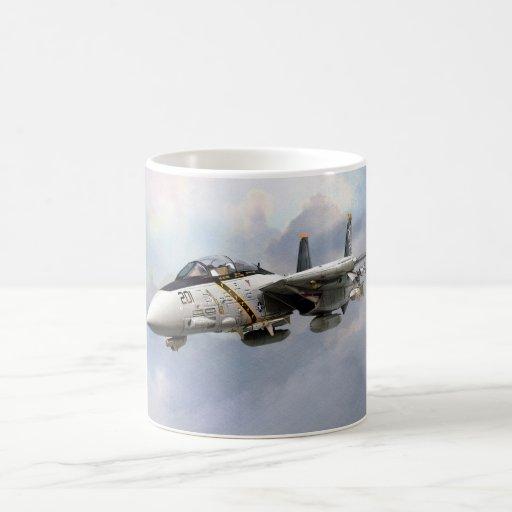 """F-14A TOMCAT JOLLY ROGERS""mug Taza Clásica"