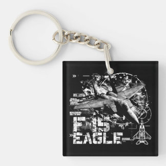 F-15 Eagle Double-Sided Square Acrylic Keychain