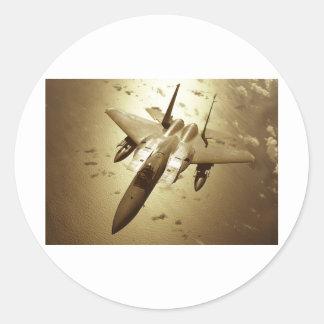 F-15 Eagle Jet Fighter Round Sticker