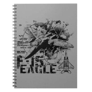 F-15 Eagle Spiral Note Book