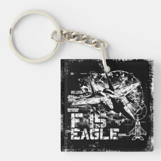 F-15 Eagle Square (double-sided) Keychain