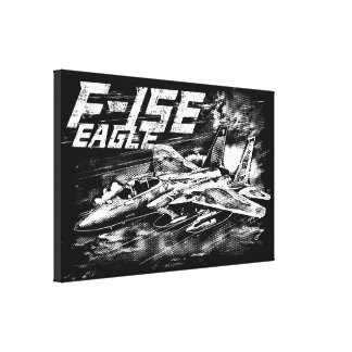 F-15 Eagle Stretched Canvas Print