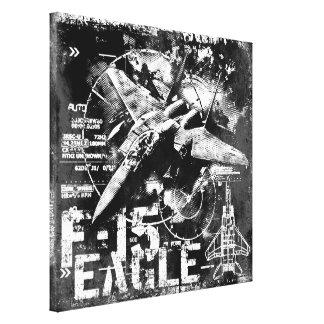 F-15 Eagle Wrapped Canvas Canvas Print