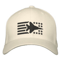 F-15 Fighter Jet Stars and Stripes Embroidered Baseball Hat