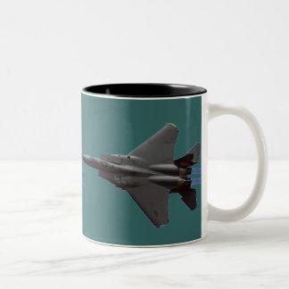 F-15 Jet Fighter Two-Tone Coffee Mug