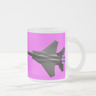 F-15 Jet Fighter 10 Oz Frosted Glass Coffee Mug