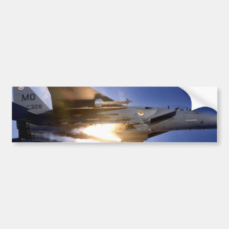 f-15 jet launching missile bumper sticker