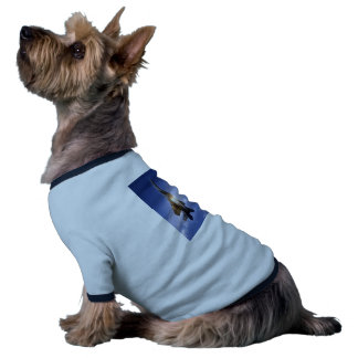 f-15 jet launching missile doggie t-shirt
