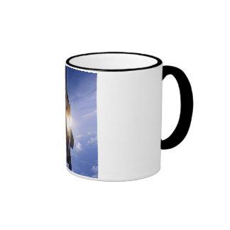 f-15 jet launching missile ringer coffee mug