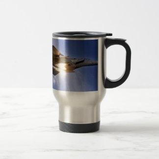 f-15 jet launching missile 15 oz stainless steel travel mug