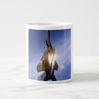 f-15 jet launching missile 20 oz large ceramic coffee mug