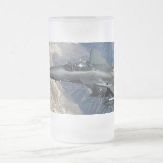 F-15 Strike Eagle Frosted Glass Beer Mug