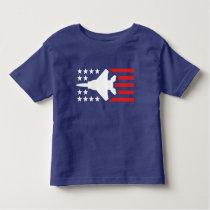 F-15 Strike Eagle Jet White n Red Stars Stripes Toddler T-shirt