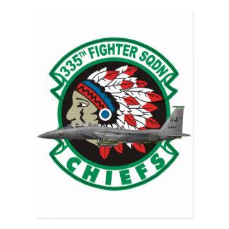F-15 Strike Eagles 335th Fighter Squadron Postcard