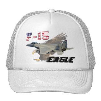 F-15C Eagle USAF Background Bald Eagle Trucker Hat