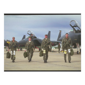 F-15E Eagle Pilots_Military Aircraft Poster