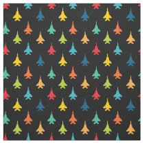 F-15E Strike Eagle Fighter Jets Pattern Primary Fabric
