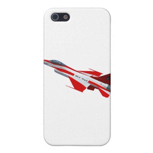 F-16 de los caballeros negros iPhone 5 carcasa
