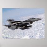 F-16 en el reloj septentrional poster