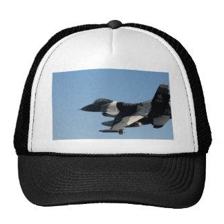 F-16 FALCON IN CAMO TRUCKER HAT
