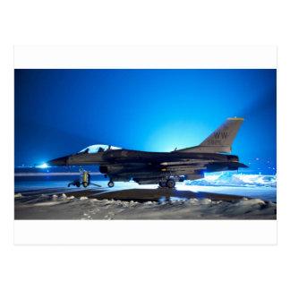 f-16 Fighter Jet Postcard