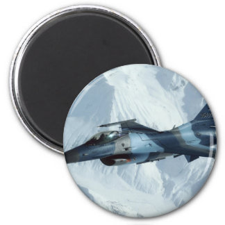 F-16 FIGHTING FALCON 2 INCH ROUND MAGNET