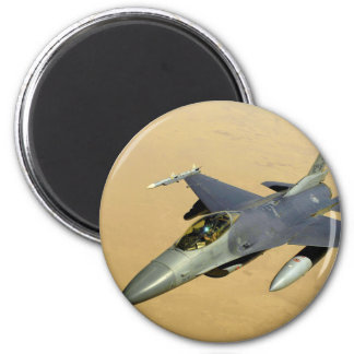 F-16 Fighting Falcon Block 40 aircraft 2 Inch Round Magnet