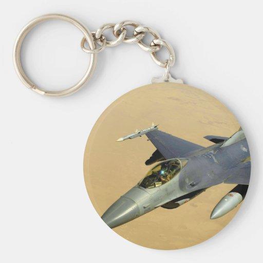 F-16 Fighting Falcon Block 40 aircraft Keychain